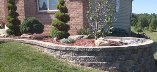 Fahl Colors - Outdoor Plant Bed with Stone Wall